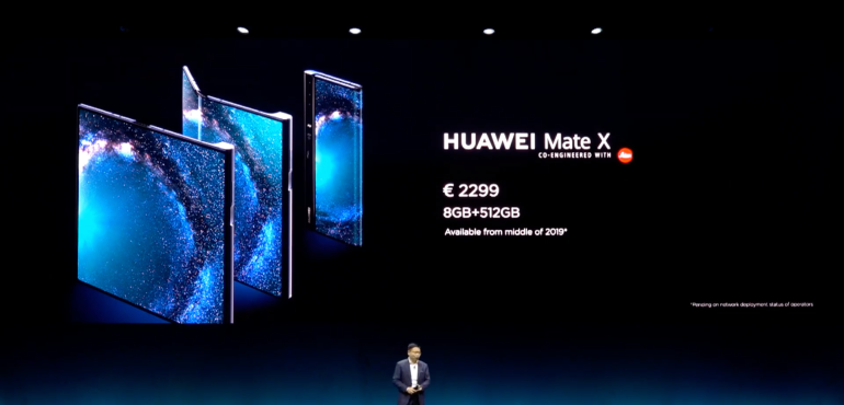 Huawei Mate X prices at launch hero size