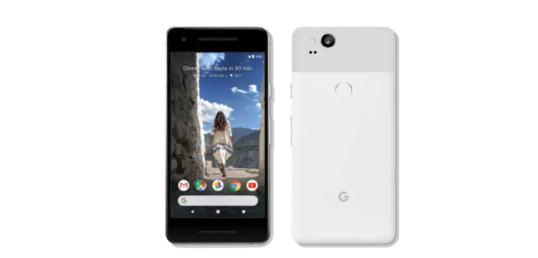 Google Pixel 2 hero size front and back