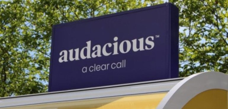 Audacious SIM sign