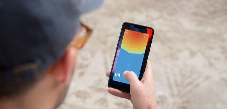 OnePlus 6 swipe up hero size