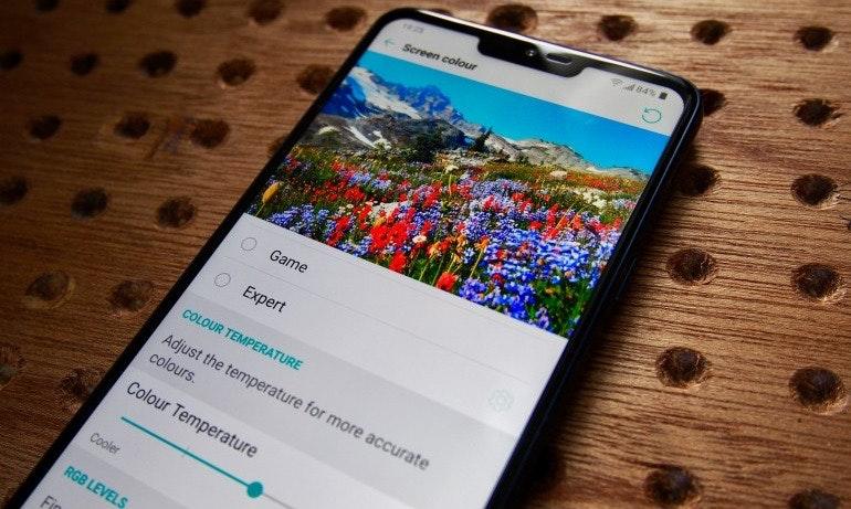 LG G7 ThinQ screen settings