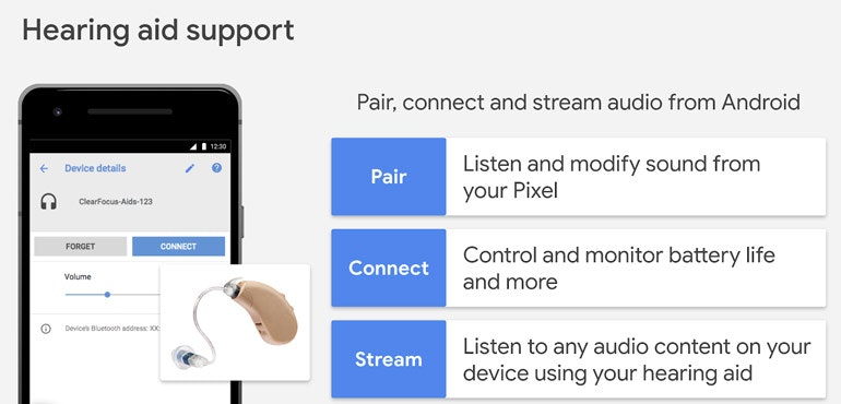 Android adds native hearing aid support