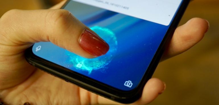OnePlus 6T in screen fingerprint scanner working hero size
