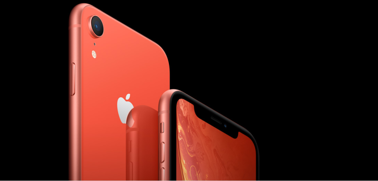 iPhone XR front and back camera detail front and back hero size