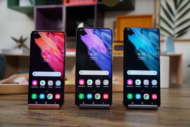 Samsung Galaxy S21 range homescreens
