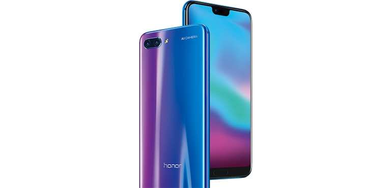 Honor 10 notch screen phantom blue hero size