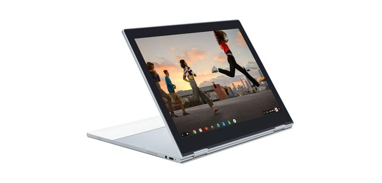 Google Pixelbook 2 captured on video