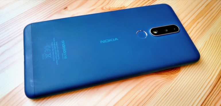 Nokia 3.1 back on table hero size blue