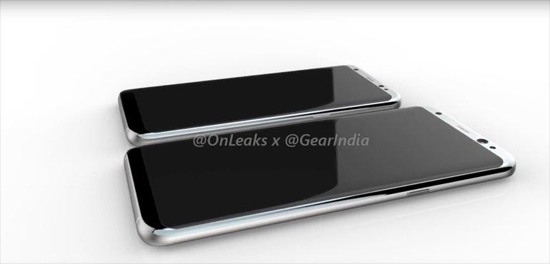 Samsung Galaxy S8 render OnLeaks GearIndia