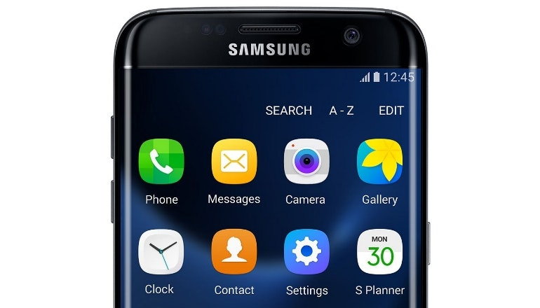 Samsung Galaxy S7 apps tray