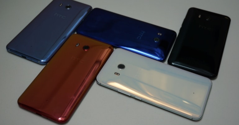 HTC U 11 five colours