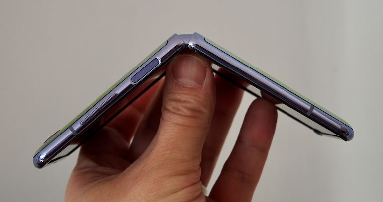 Samsung Galaxy Z Flip side
