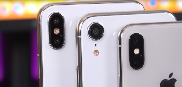 Apple iPhone 9 Plus and X 2018 backs camera closeup hero size