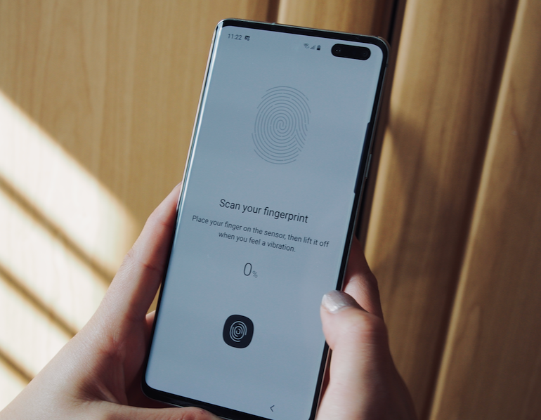 Samsung Galaxy S10 5G fingerprint