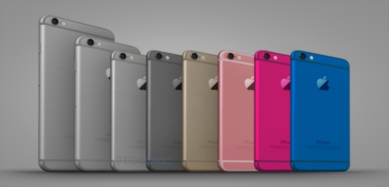 iphone 6c 5se colours renders