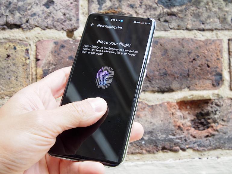 Huawei P40Pro+ fingerprint