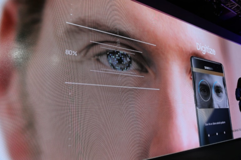 Samsung Galaxy Note 7 launch iris scanner