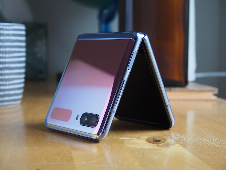 Samsung Galaxy Z Flip standing 1