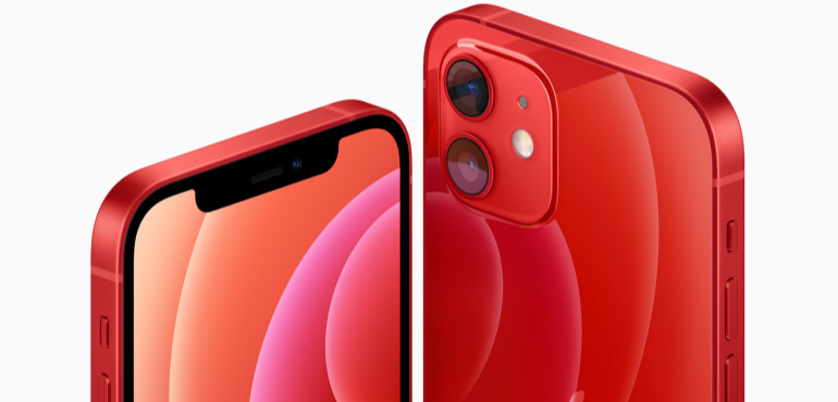iPhone 12 red hero image