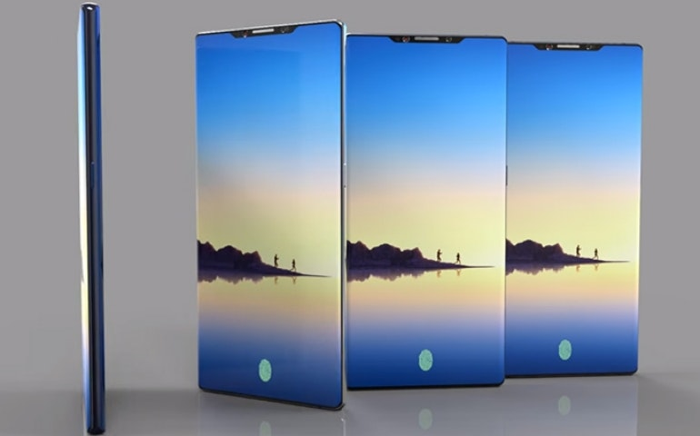 Samsung Galaxy Note 9 concept fingerprint scanner