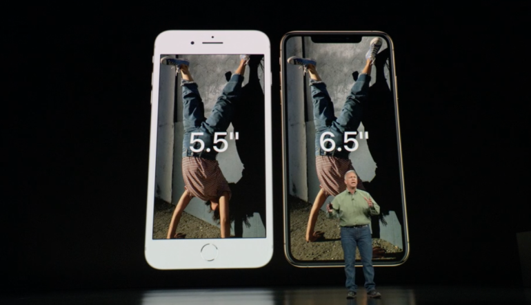 iPhone XS Max size vs iPhone 8 Plus
