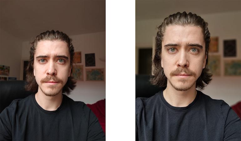 x3 lite vs s21 selfie comparison