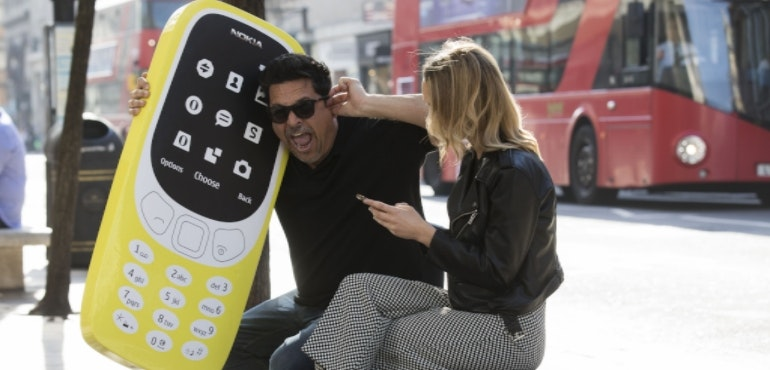 Dom Joly Nokia 3310 hero