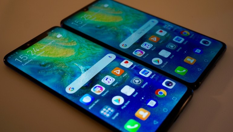 Huawei Mate 20 and Mate 20 Pro screens and notch