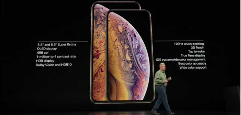 iPhone Xs and Xs max details hero size
