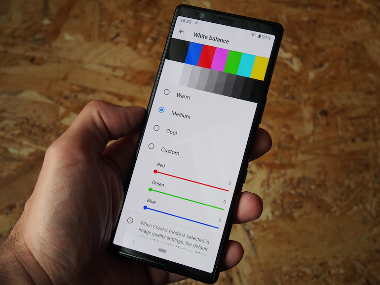 Sony Xperia 5 screen settings
