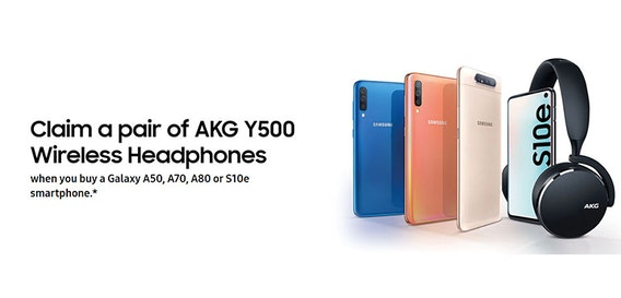 How to claim free AKG Y500 Wireless Headphones when you buy a Samsung phone