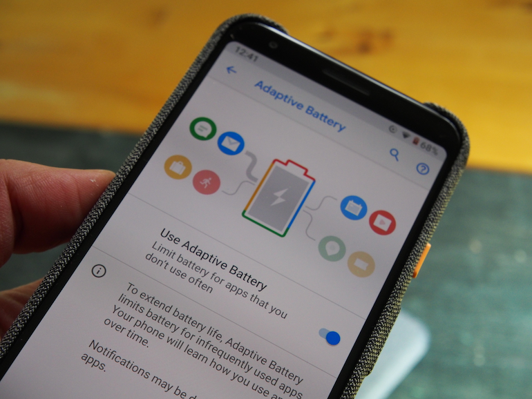Google Pixel 3a adaptive battery