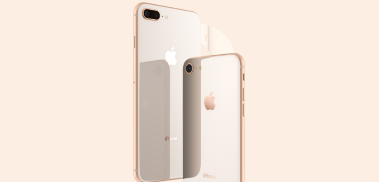 iPhone 8 and 8 Plus gold hero size