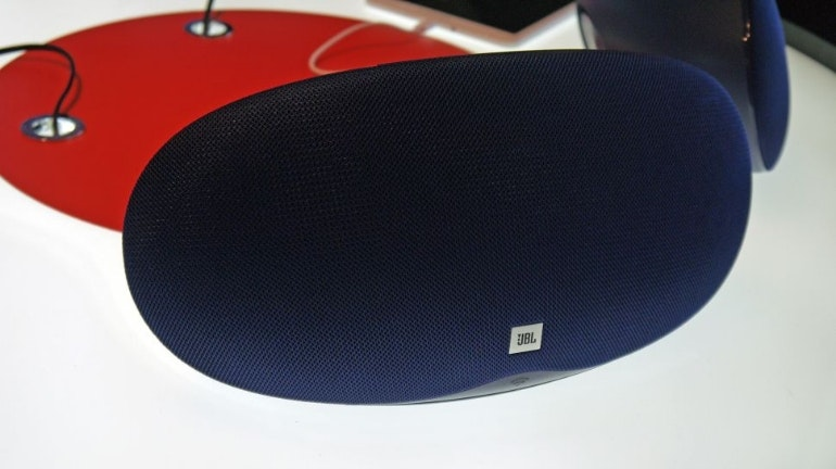 JBL blue speaker