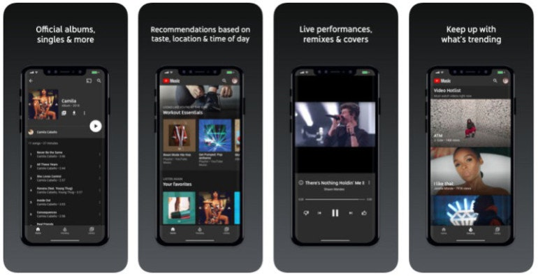 YouTube Music screens