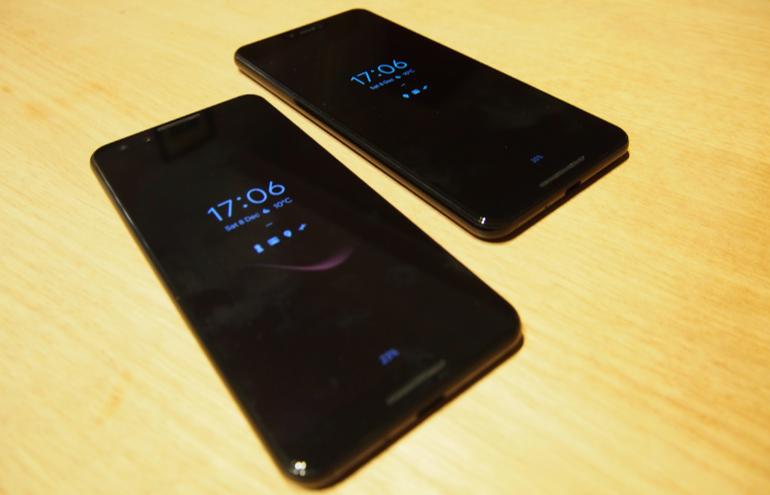 Google Pixel 3 and 3XL lockscreens