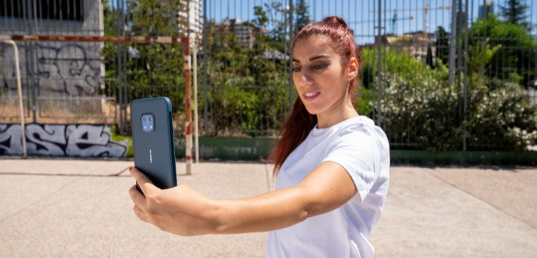 006 -Football legend Roberto Carlos and freestyler Lisa Zimouche put the new life-proof 5G smartphone, the Nokia XR20, through its toughest test