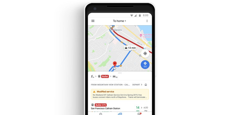 Google Maps gets dedicated commute mode, Spotify integration