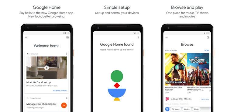 Google Home app update 2018