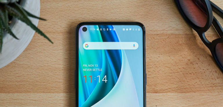 OnePlus Nord N10 5G homescreen hero image
