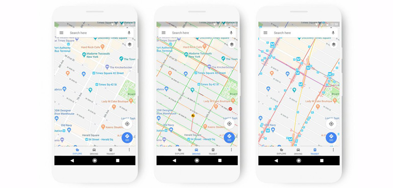 Google Maps get new, colour coded look