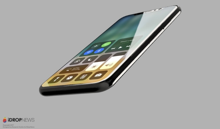 iphone 8 renders all screen