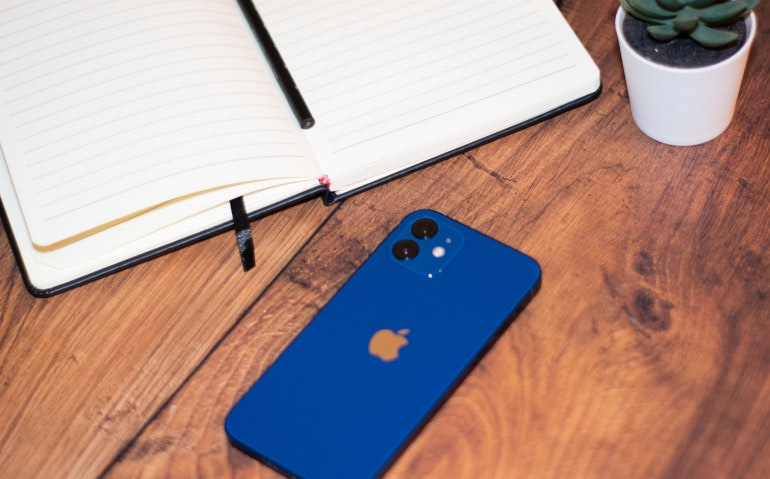 iPhone 12 flat lay