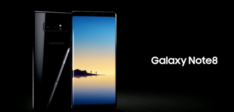 Samsung Galaxy Note 8 hero image advert