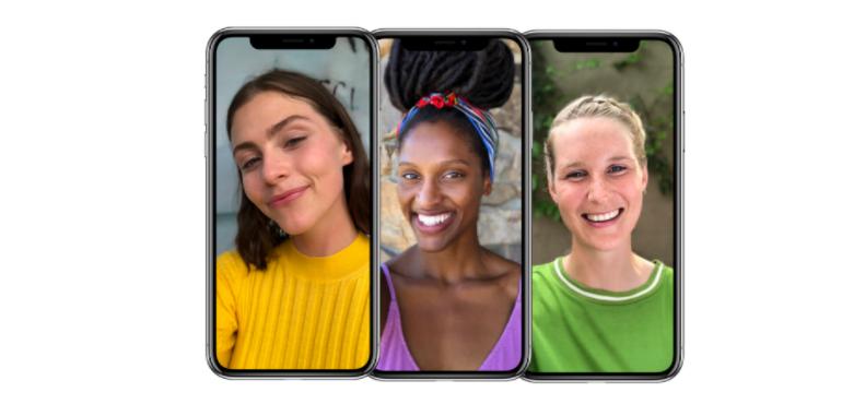 three iphones x selfie camera face id