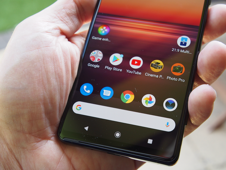 Sony Xperia 1 II home screen