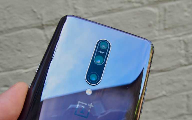 OnePlus 7 Pro camera lens close up
