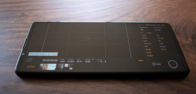 Sony Xperia 1 III Cinepro app