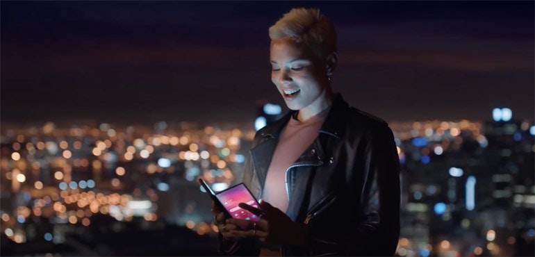 Samsung Galaxy F folding phone teaser video