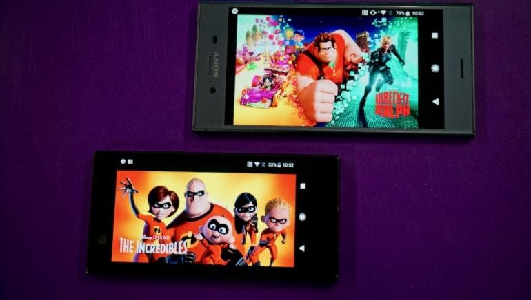 Sony Xperia XZ1 and XZ1 Compact screens